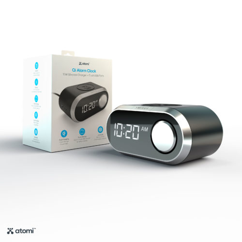 Wireless Charging Alarm Clock (Black)