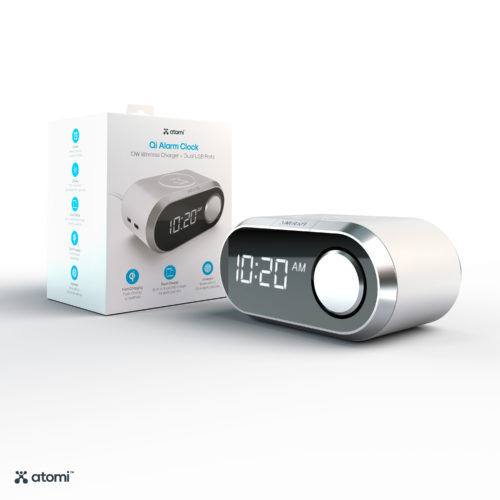 Wireless Charging Alarm Clock (White)